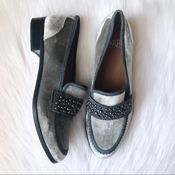 96c660a0716 Franco Sarto Velvet Embellished Slip On Loafer NIB
